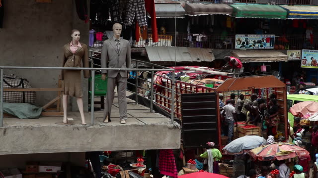 Mannequins at a market in Accra, Ghana