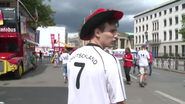 Mannschaft supporters are flooding into fan parks in Berlin to watch Germany take on Argentina in the final of the World Cup on Sunday