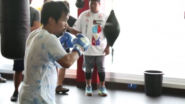 manny pacquiao still trains with the joy that has been a trademark of his spectacular boxing career but outside of the ring he speaks in ominous... - religious illustration stock videos and b-roll footage