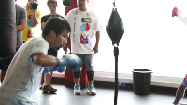 manny pacquiao still trains with the joy that has been a trademark of his spectacular boxing career but outside of the ring he speaks in ominous... - biblical event stock videos & royalty-free footage