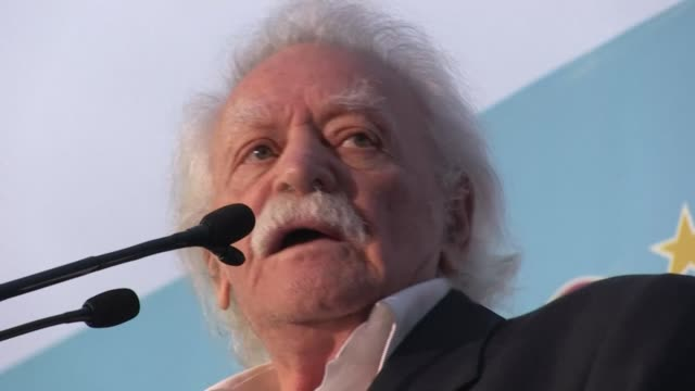 manolis glezos, who has died at the age of 97, was a greek resistance hero who tore down the nazi swastika flag from the acropolis during world war... - nazi swastika stock videos & royalty-free footage