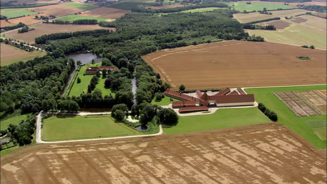 manor house and farm - Aerial View - South Denmark, Odense Kommune, Denmark