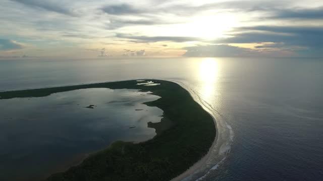Manra Atoll at dawn, Kiribati