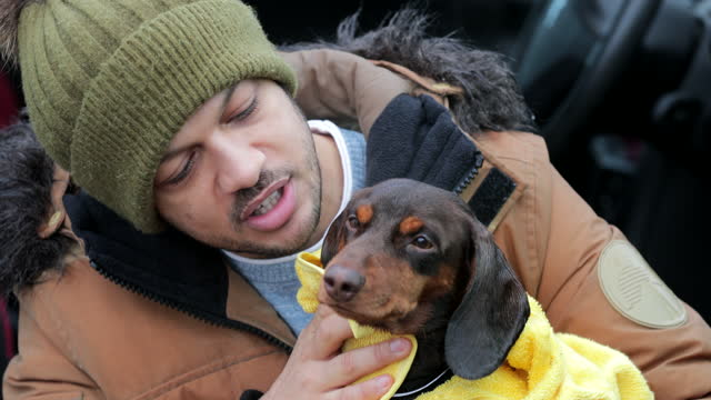 man's best friend - one mid adult man only stock videos & royalty-free footage