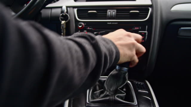 MS Man's hand shifting the gear