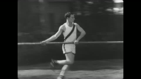 1927 man's (buster keaton) new track and field skills come in handy when it comes time to rescue the popular girl - trapped stock videos & royalty-free footage