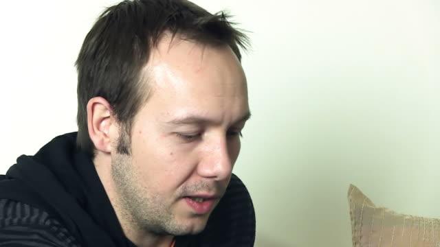 man's portrait - sideburn stock videos & royalty-free footage