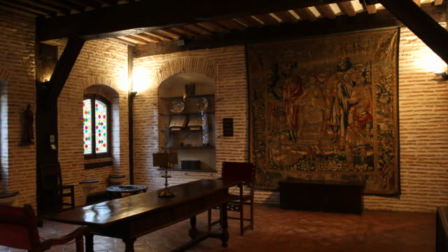 mansion of loyola, spain - tapestry stock videos & royalty-free footage