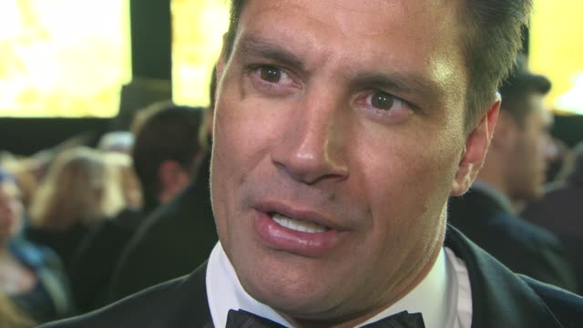 manu bennett on the premiere, his motion capture preformance at 'the hobbit: the battle of the five armies' world premiere at odeon leicester square... - the hobbit: the battle of the five armies stock videos & royalty-free footage