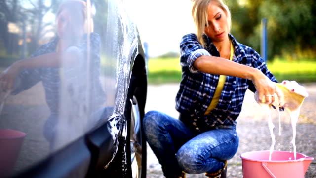 Manual car wash.