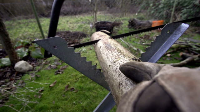 SLOW MOTION: Manual Saw in Action