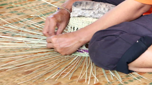 manual work asia - straw hat stock videos & royalty-free footage