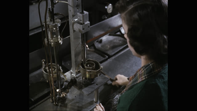 manual worker manufacturing carburetor in factory - hammer stock videos & royalty-free footage