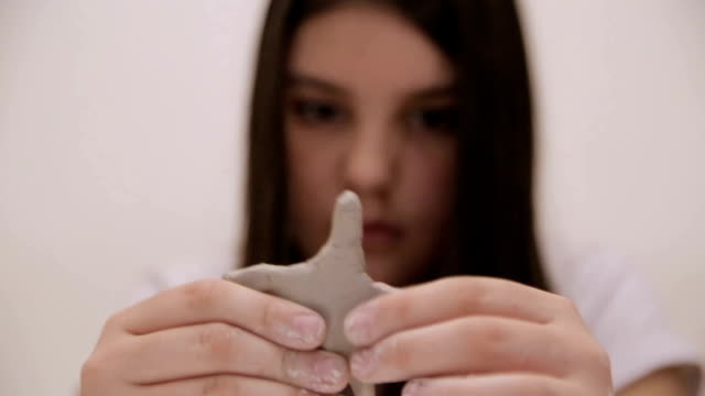 manual workshops for children, clay molding - pressure point stock videos & royalty-free footage