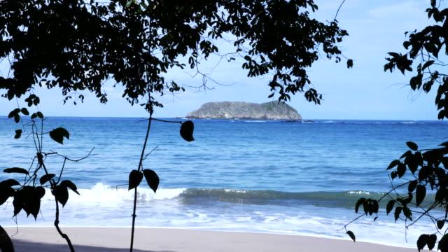 manuel antonio beach - provinz puntarenas stock-videos und b-roll-filmmaterial