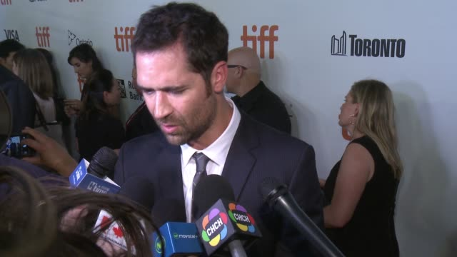 interview manuel garciarulfo on opening tiff if there was pressure to remake this film the most difficult part of making this movie the most fun part... - toronto international film festival stock videos and b-roll footage