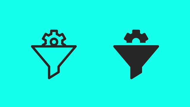 manufactured filter icons - vector animate - icon stock videos & royalty-free footage