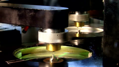 cd manufacturing close up - dvd stock videos & royalty-free footage