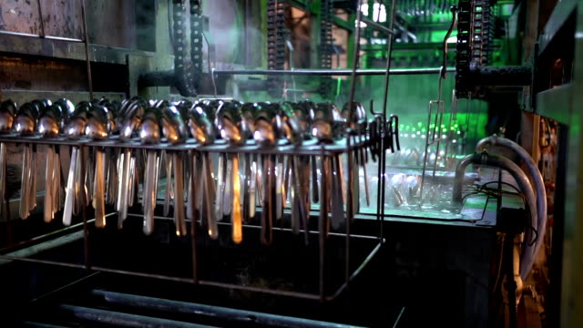 manufacturing cutlery - eating utensil stock videos & royalty-free footage