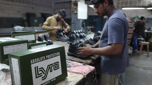 manufacturing military supplies at the lyra factory karachi sindh pakistan on thursday august 162018 - sindh pakistan stock videos and b-roll footage
