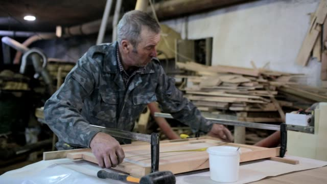 manufacturing of designer furniture in a small workshop. - ukrainian ethnicity stock videos and b-roll footage