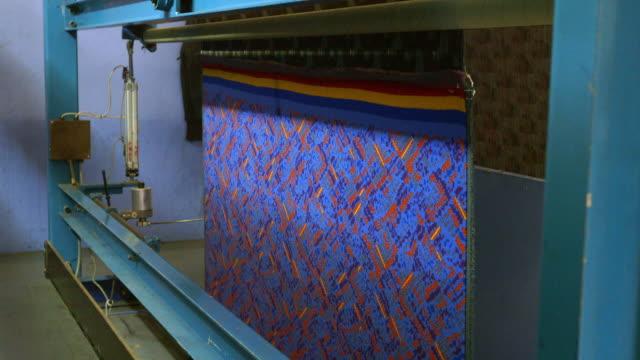 ms manufacturing textile in camira fabrics / mirfield, england, united kingdom - teppich stock-videos und b-roll-filmmaterial