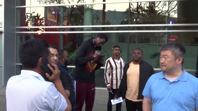Manute Bol at the Los Angeles Clippers vs Golden State Warriors game at STAPLES Center in Los Angeles at Celebrity Sightings in Los Angeles on April...