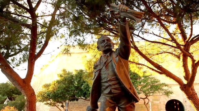 manwel dimech statue - philosopher stock videos & royalty-free footage