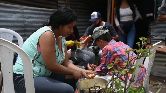 many displaced people are suffering from poor sanitation, a lack of health and education in the colombian capital bogota. colombia has one of the... - latin america stock videos & royalty-free footage