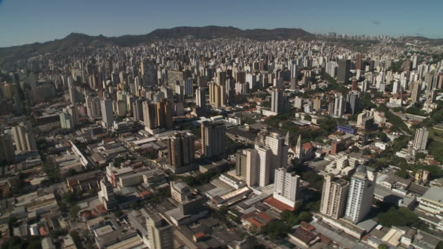 many highways and streets cut through the metropolis of belo horizonte, brazil. - belo horizonte stock videos and b-roll footage