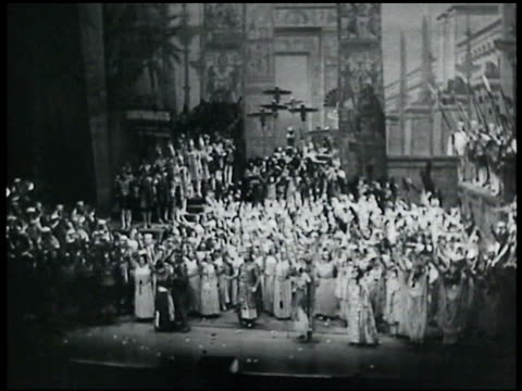 Many opera singers gathered on stage New York City