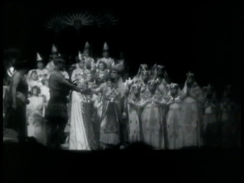 many opera singers gathered performing on stage new york city - 1935 stock videos & royalty-free footage