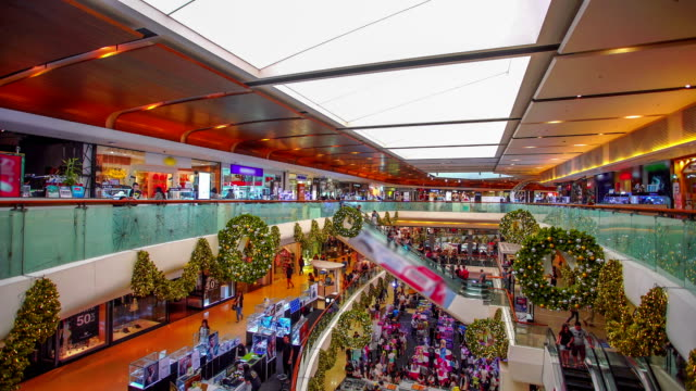 Many people in shopping mall