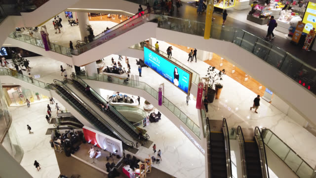 many people walking and shopping in shopping mall - department store stock videos & royalty-free footage