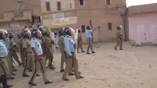 many people were injured in the mauritanian capital nouakchott on wednesday after a police crackdown on two demonstrations organised by a coalition... - mauritania stock videos & royalty-free footage