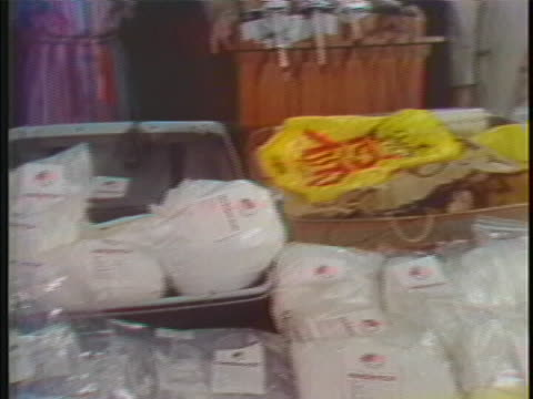 "many pounds of confiscated white heroin, called ""china white"", are on display. - crime or recreational drug or prison or legal trial stock videos & royalty-free footage"