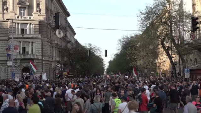 many tens of thousands of hungarians protest in budapest against newly reelected prime minister viktor orban accusing him of rigging last weekend's... - rigging stock videos & royalty-free footage