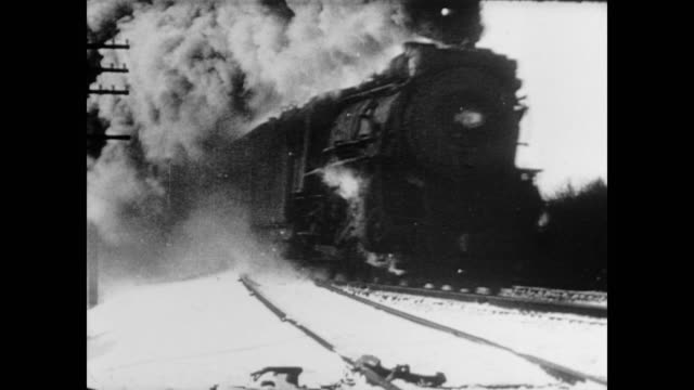 stockvideo's en b-roll-footage met 1945 many types of trains steam by - stoomtrein