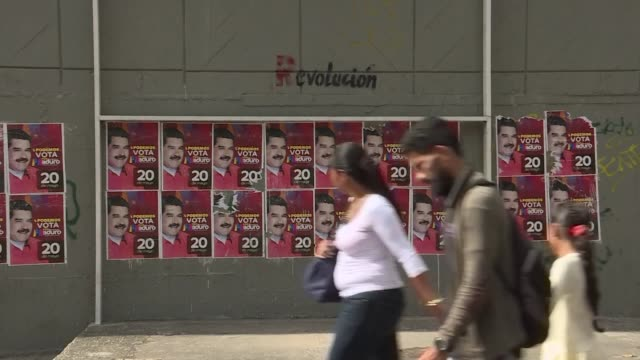 many venezuelans are backing president nicolas maduro in venezuela's controversial sunday elections in spite of the country's current state of... - maduro stock videos & royalty-free footage