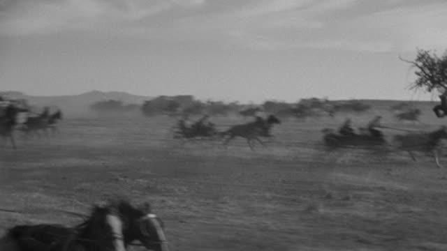 ms ts many wagons racing full speed - pferdekarre stock-videos und b-roll-filmmaterial