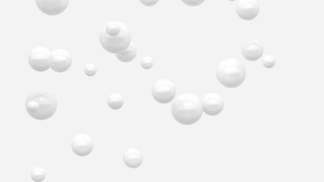 many white balls/sphere levitation white background minimal motion 3d rendering - group of objects stock videos & royalty-free footage