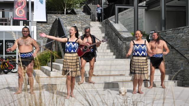 maori dance, new zealand. - māori people stock videos & royalty-free footage