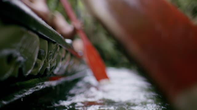 vídeos y material grabado en eventos de stock de maori oar rowing - polinesio