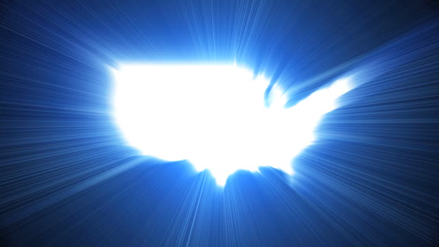 USA Map Bright
