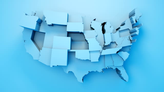 usa map by states - election stock videos & royalty-free footage