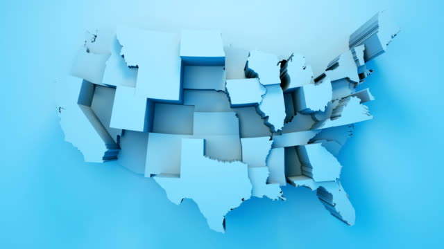 usa map by states - general election stock videos & royalty-free footage
