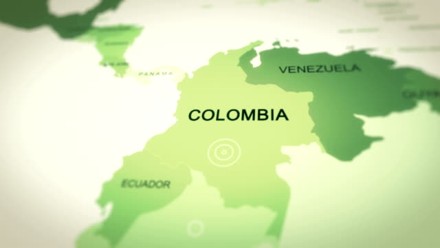 map colombia - colombia stock videos & royalty-free footage
