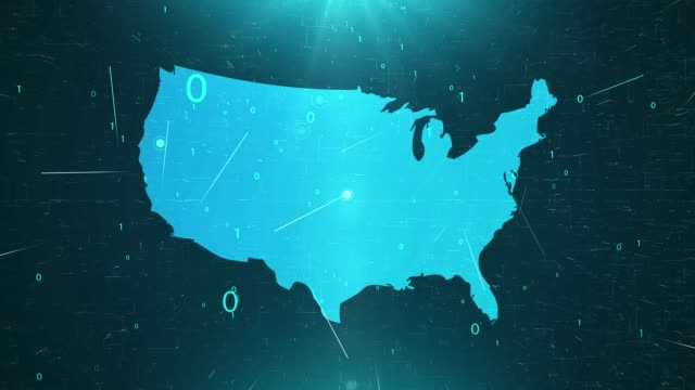 usa map connections full details background - climate map stock videos & royalty-free footage