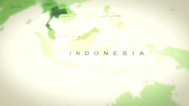 map indonesia - indonesia map stock videos & royalty-free footage