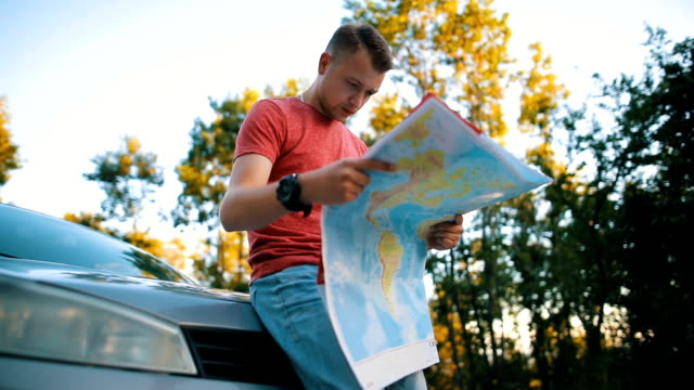 map it out - road trip stock videos & royalty-free footage